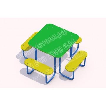 Стол со скамейками Игруля 02