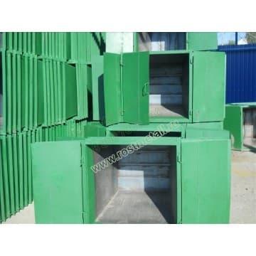 Контейнер металлический мусорный объём 0,5 м3