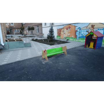 Скамейка детская Барашек для дачи