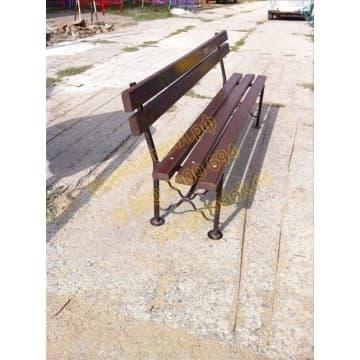 Скамейка парковая Горизонт со спинкой