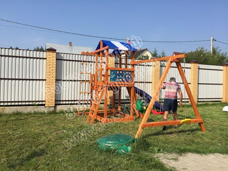 детские деревянные площадки для дачи
